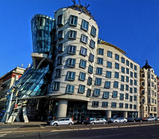 Building, The Dancing House, Prague, Architecture