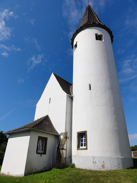 Chapel, Kirchberg, Tower, Alsace, Tourism, Building