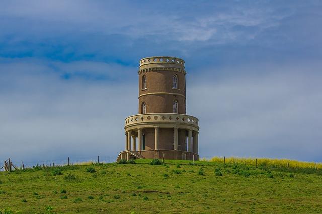 Tower, Building, Coast, Dorset, England