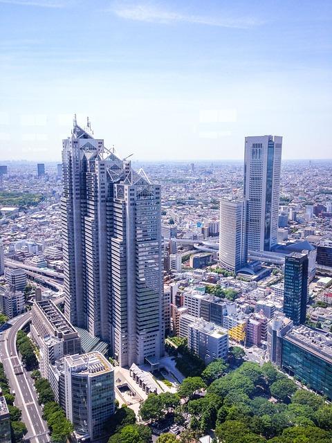 Tokyo, Skyscrapers, Building, Architecture, Urban