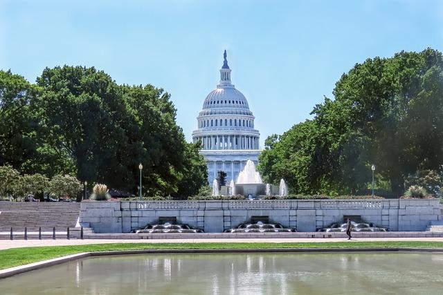Landscape, Capitol, Building, Congress, Dome, Usa