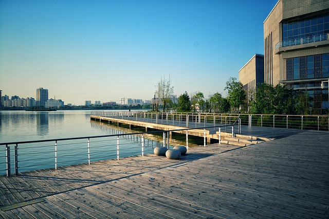 Waters, Building, City, Sky, Outdoor, Modern, River