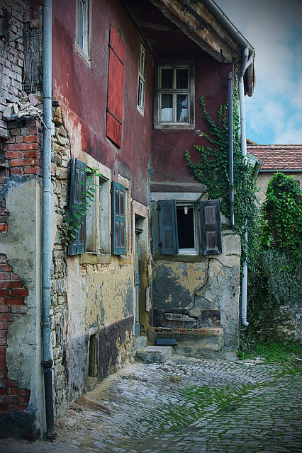 Hauswand, Weathered, Color, Building, Rothenburg