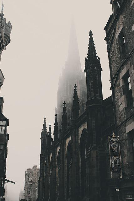 Architecture, Buildings, Foggy