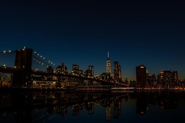 Bridge, Buildings, City, Cityscape, Lights, Night