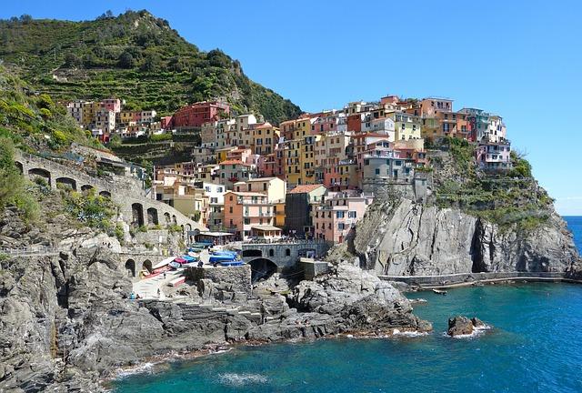 Coast, Sea, Village, Buildings, Houses, Urban