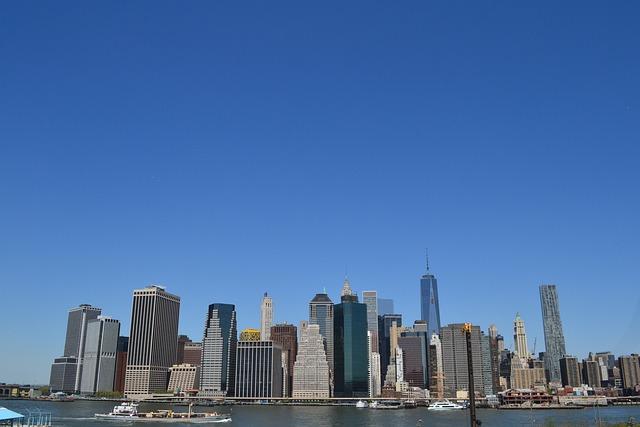 Manhattan, Skyline, Landscape, Neew York, Buildings