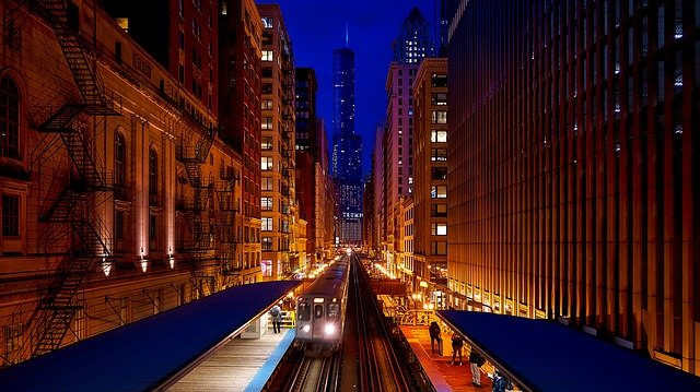 Chicago, Illinois, City, Urban, Downtown, Buildings