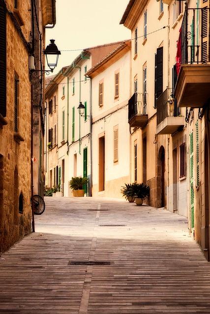 Alcudia, Spain, Town, City, Urban, Buildings