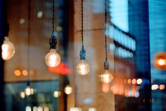 Lamps, Light Bulbs, Blur, Bokeh, Bulb, Dark, Evening