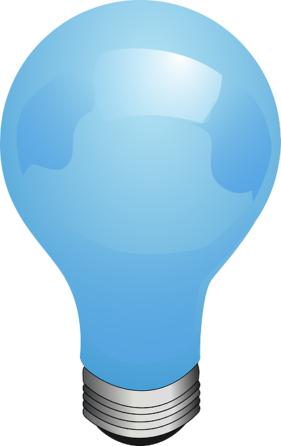 Bulb, Blue, Lamp, Electric, Light, Lighting