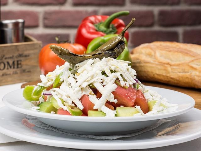 Bulgarian Traditional Salad, Bulgaria, Salad, Tomatoes