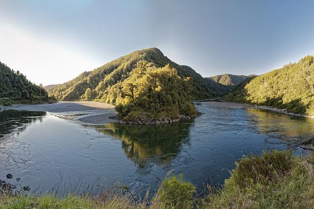 New Zealand, Buller Gorge, Buller River, Panorama