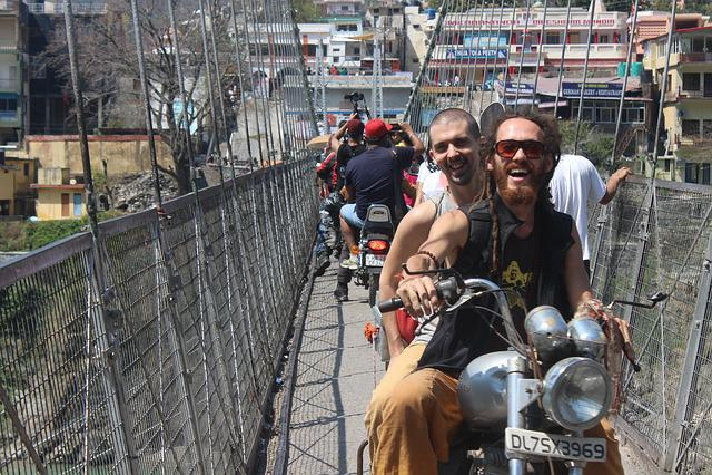 Rishikesh, Passenger, Bike, Uttarkhand, Smile, Bullet