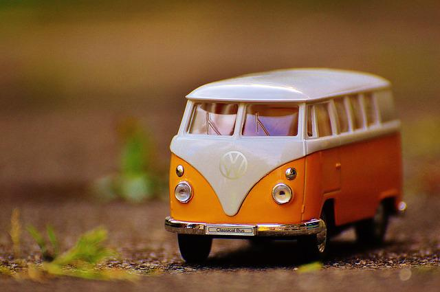 Bulli, Volkswagen, Auto, Model Car, Vw Bus, Yellow
