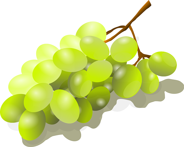 Bunch Of Grapes, Viognier Grapes, Grapes, Fruit, Sweet