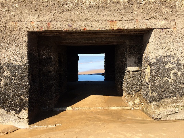 Focus, View, Beach, Bunker