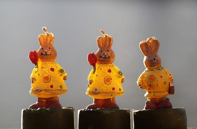 Bunny Girl, Female Hares, Hare, Bunnies, Wax, Figurines