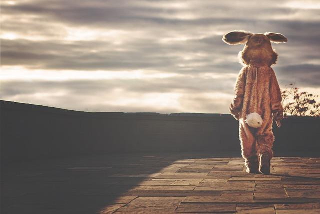 Rabbit, Hare, Bunny, Costume, Animal, Cute, Easter