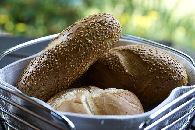 Buns, Breads, Food, Sesame Seeds, Freshly Baked, Baked