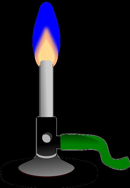 Bunsen Burner, Burner, Chemistry, Fire, Flame, Heat