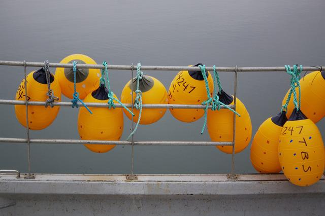 Ribbed Floats, Buoys, Commercial Fishing