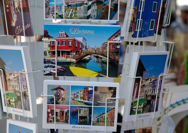 Italy, Burano, Postcards, Colorful House, Channel