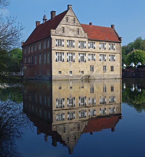 Castle, Münsterland, Burg Hülshoff, Wasserburg