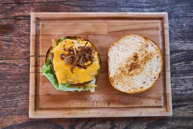 Burger, Cheese, Food, Meat, Cheeseburger, Bread
