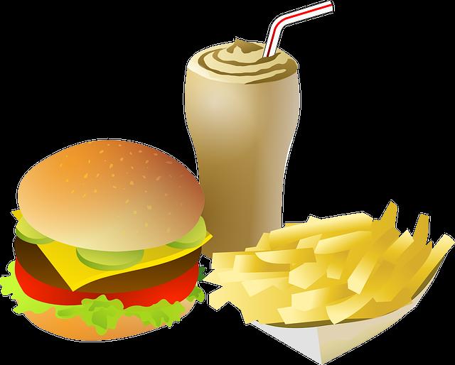 Cheeseburger, Drink, Fries, Food, Menu, Burger, Meal