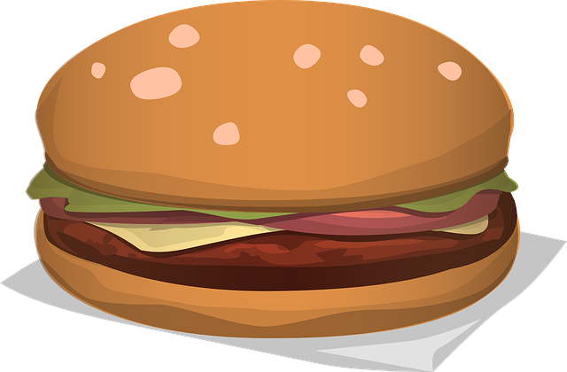 Hamburger, Cheeseburger, Burger, Lunch, Dinner