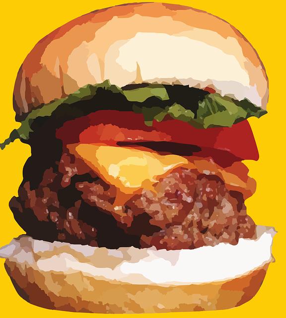 Hamburger, Sandwich, Burger, Meat