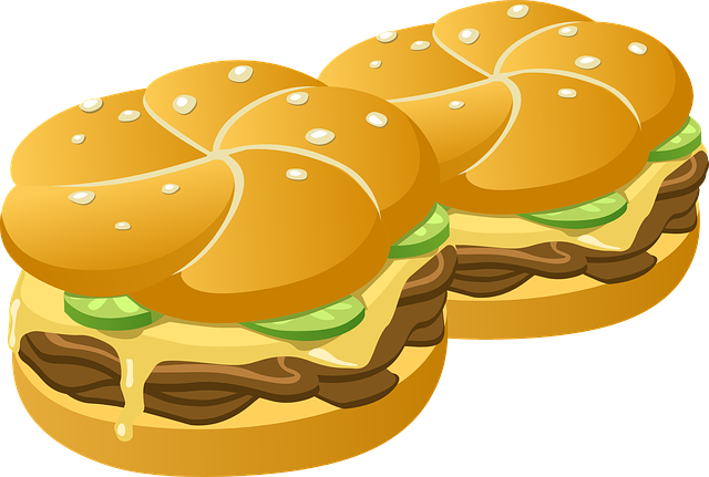 Hamburgers, Burgers, Buns, Rolls, Sandwich