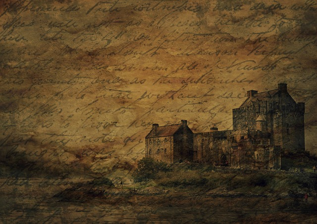 Background, Texture, Castle, Burgruine, Handwriting