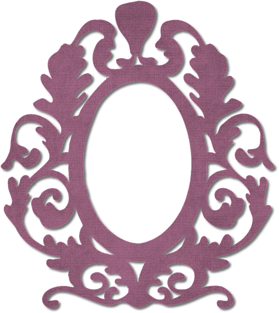 Frame, Burgundy, Ornate, Arts And Crafts, Border