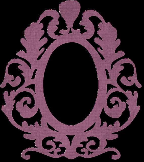 Frame, Burgundy, Ornate, Arts And Crafts, Border