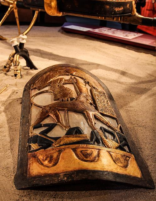 Egypt, Pharaonic, Shield, Tutankhamun, Burial Chamber