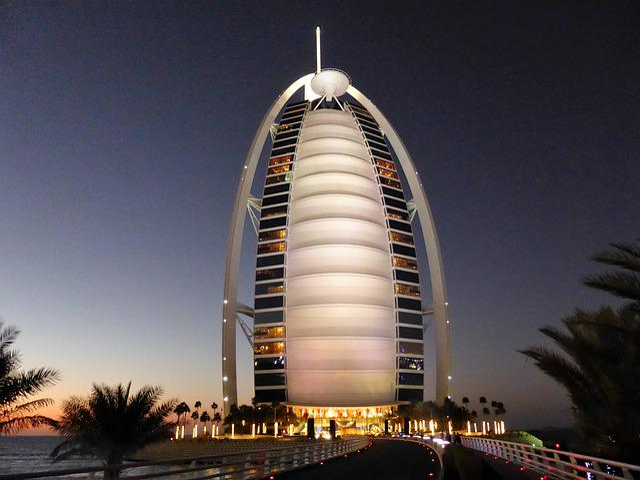 Hotel, Dubai, Burj Al Arab, Emirates, Luxury, Glamor