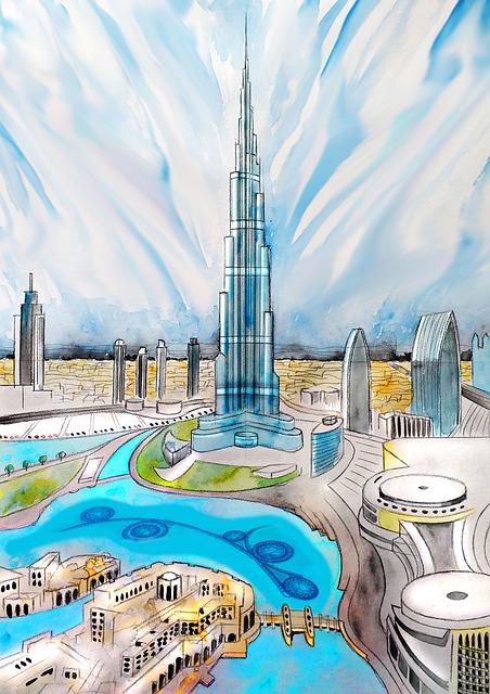 Dubai, U A E, Burj Khalifa, Dubai Tower, Architecture