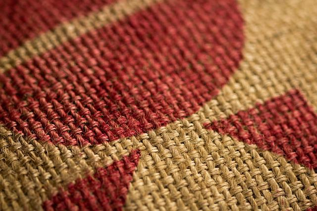 Burlap, Coffee Sack, Close-up, Tan, Red