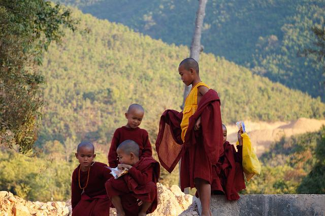 Monk, Burma, Friends