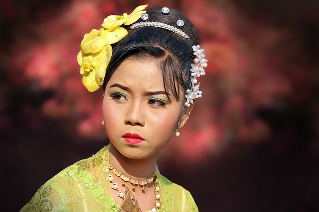 Asia, Myanmar, Burma, People, Woman, Portrait, Face