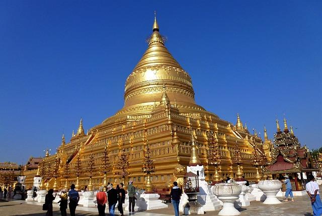 Burma, Temple, Doré, Travel, Architecture, Religion