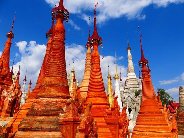 In Input, Inlesee, Myanmar, Burma, Pagoda, Temple