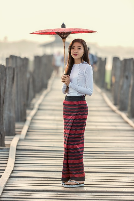 Umbrella, Fashion, The Device, Asia, Burma, Pretty