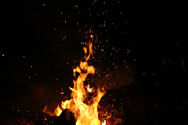 Nature, Fire, Flames, Burn, Ashes, Spark, Smoke, Night