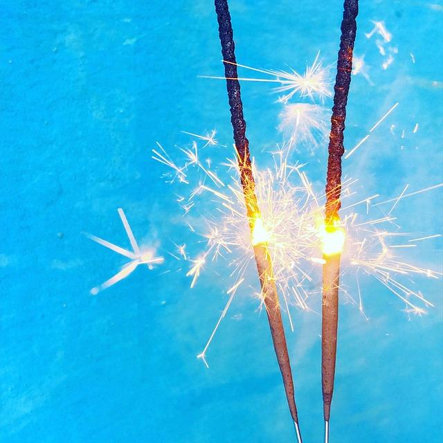 Sparkler, Sparks, Heat, Fire, Burn, Light, Fireworks