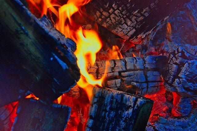 Fire, Campfire, Burns, Flame, Flames, At Night, Red