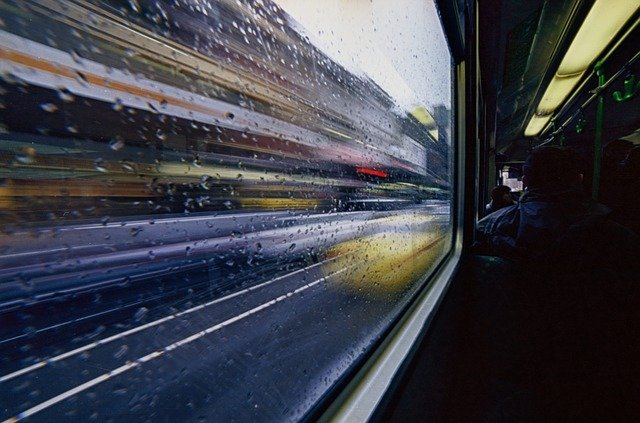 Transport, Blurry, Moving, Tram, Bus, Urban, Street