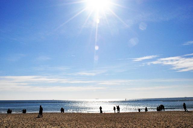 Haeundae Beach, Sunshine, Sandy, Sea, Sunset, Busan